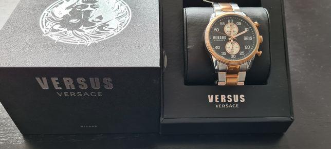 Relógio Versus Versace Shoreditch 44m Ouro Rosa e Azul