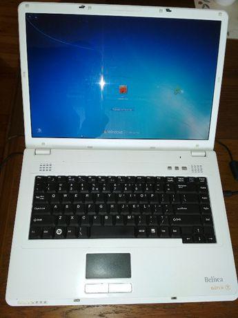 Laptop Belinea Core Duo Ram 2gb win7 HDD 150 Mb