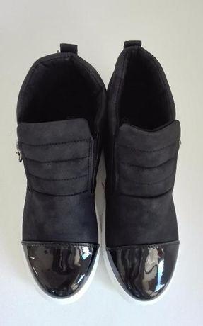 Sneakersy Botki Trampki Sportowe Czarne
