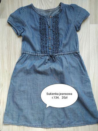 Sukienka jeansowa dziewczęca