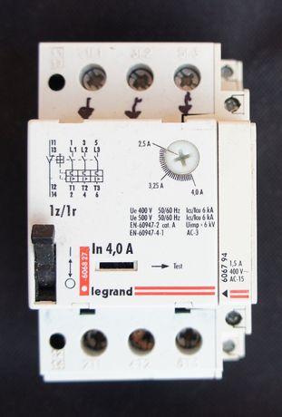 wyłącznik silnikowy na szynę Legrand M250 2,5-4A 1,5kW