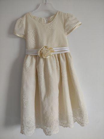Sukienka waniliowa koronkowa Little Women
