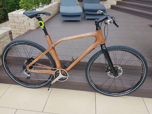 Rower drewniany zamienię