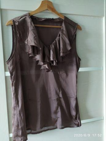 Bluzka Carry Formal brązowa z falbanką rozmiar L
