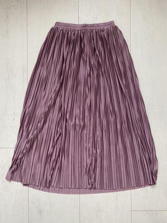 Nowa rozowa liliowa dluga spodnica midi maxi modna kobieca vintage S/M