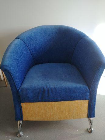 Fotel niebieski 2 sztuki