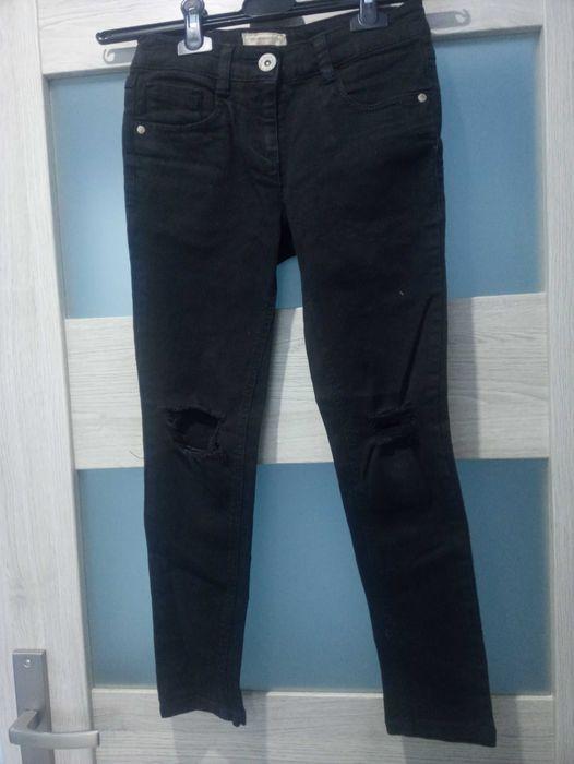 Spodnie czarne jeansy 140 dziury next Chojnice - image 1