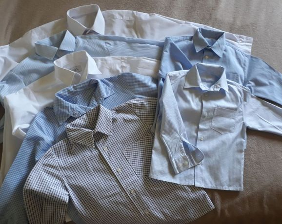 Koszule dla chłopca od rozm.98 do 128 pakiet cienkie +flanelowe