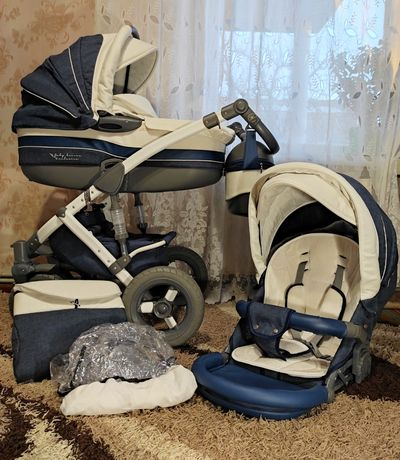 Джинсовая детская коляска 2в1 Tako Baby Heaven Exclusive Ecco Jeans