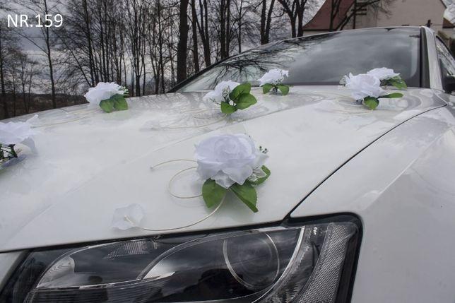 Śliczne sztuczne róże w ozdobie/dekoracji na samochód/ślub/wesele