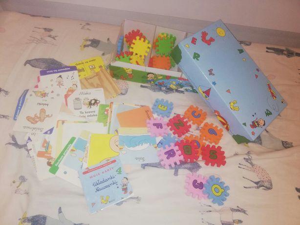 Moje karty ukladanki nauczanki Atlas puzzle piankowe