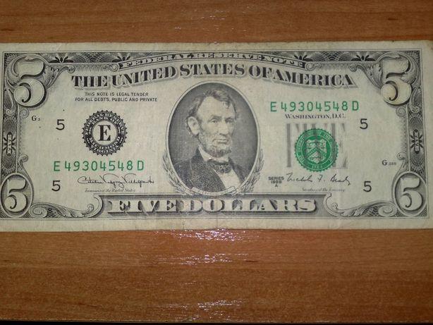 5 долларов 1988 года