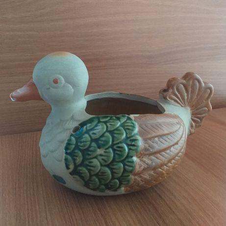 KACZKA figurka, miseczka ceramiczna wys 12 cm