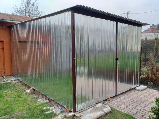 GARAŻ BLASZANY Producent garaże wiaty schowki bramy blaszak Pleszew