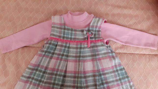 Vestido menina quentinho, tamanho 18 meses