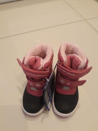 Buty zimowe, śniegowe rozmiar 21 lupilu nowe