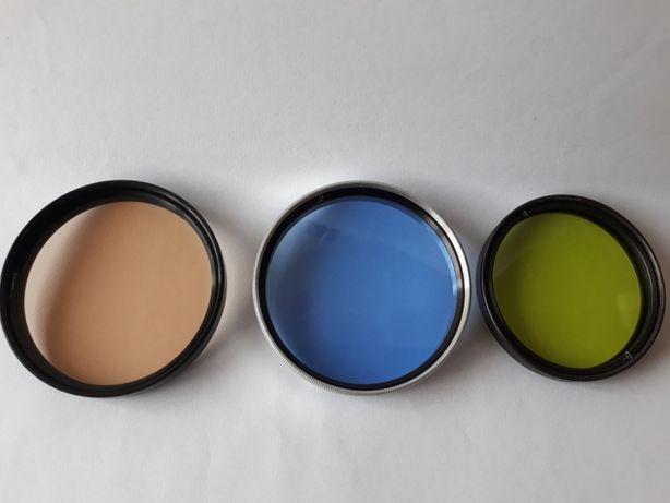 Filtry na obiektyw, zestaw trzy kolory.