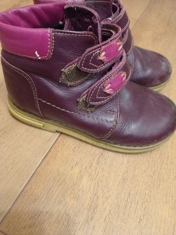 Кожаные ботинки весна-осень с супенатором.28размер по стельке 18см.