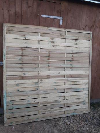 Kratka ogrodowa Płot drewniany 180#180 lamelowy (panel,przesło)balkon