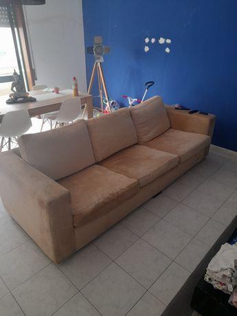 Sofa creme 4 e ou 5 lugares