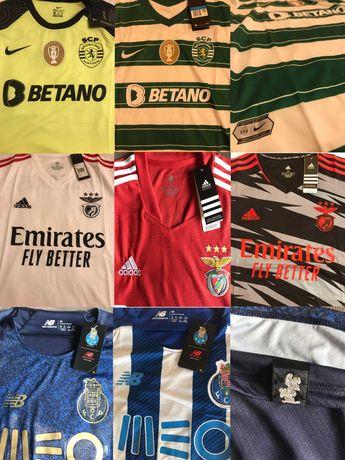 Camisolas Porto_Sporting_Benfica 21/22 Futebol Principal/Alternativa