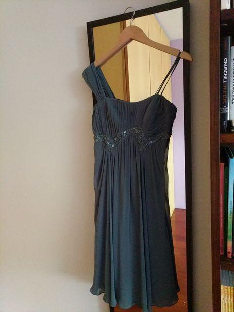 Vestido curto de cerimónia/ festa azul