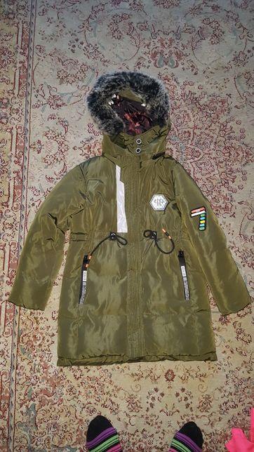 Куртка, парка зимняя 8-10 лет