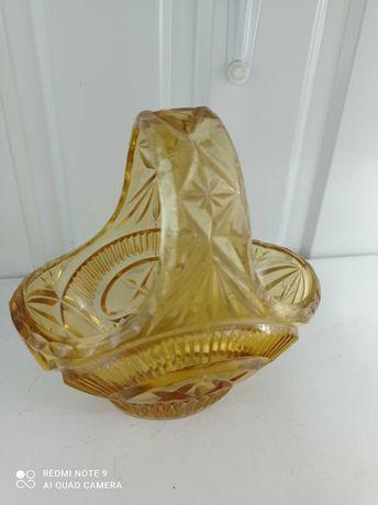 Склянний кошик- ваза (цукерниця )