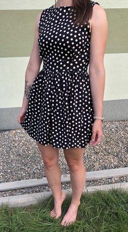 Sukienka w grochy Atmosphete 36 S pin-up retro taliowana