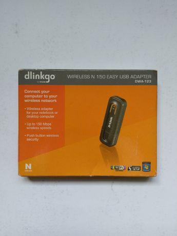 Adapter DWA-123 Wireless N 150 Easy USB NOWY