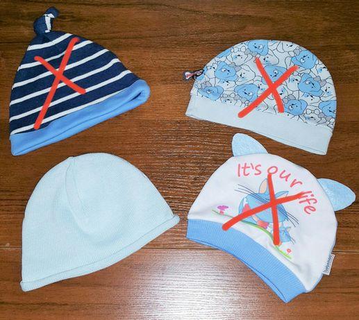 шапочки детские от 3 - 8 м