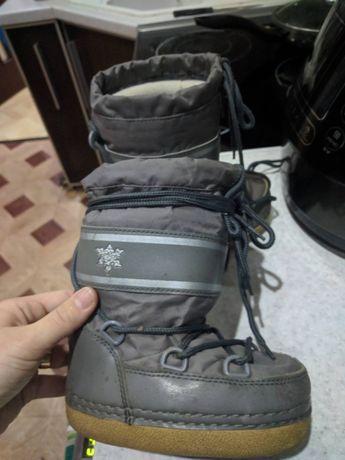 Мунн ботс чоботи сапоги луноходы moon boots зимние ботинки