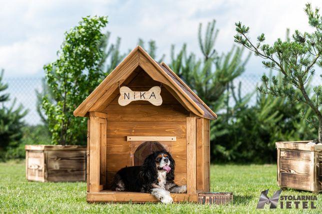 Średnia buda dla psa z tarasem ocieplana Najlepsza OFERTA
