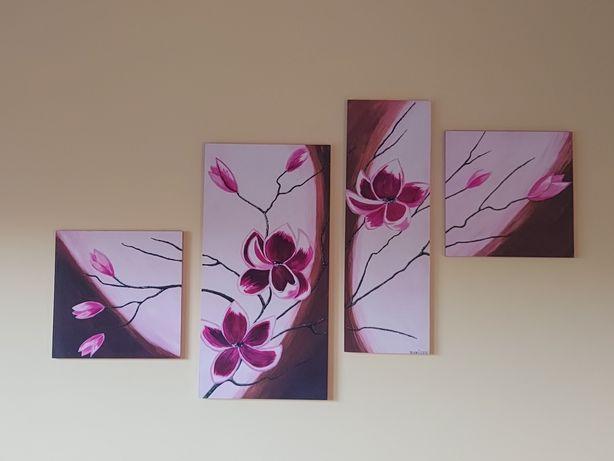Kwadryptyk Obraz z 4 części Magnolie