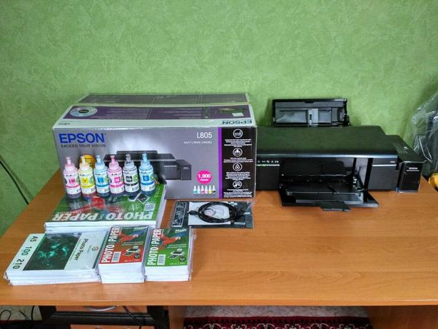Принтер Еpson L805 + Чернила и бумага