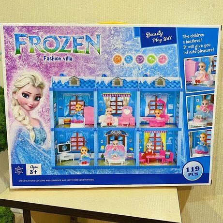 Дом замок 61,5 см вилла для кукол Эльза Frozen холодное сердце