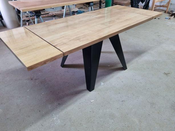 Stół debowy rozkładany 210 cm x 90 cm Nowy Dostepny od Ręki