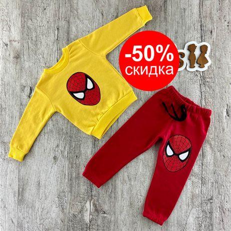 Детская пижама Человек-паук для мальчика, кофта и штаны на мальчика