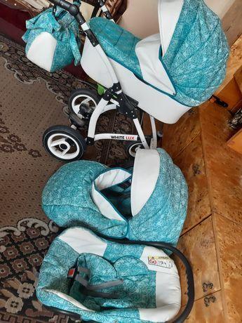 Wózek dziecięcy 3w1 white lux