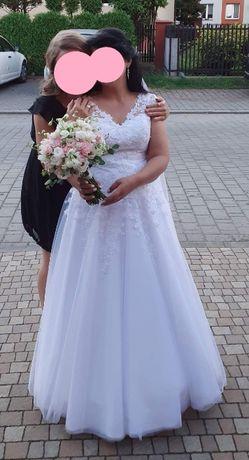Przepiękna Suknia Ślubna Kate + halka