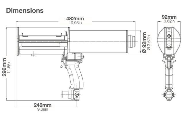 Pistola Pneumática aplicação colas \ mastiques