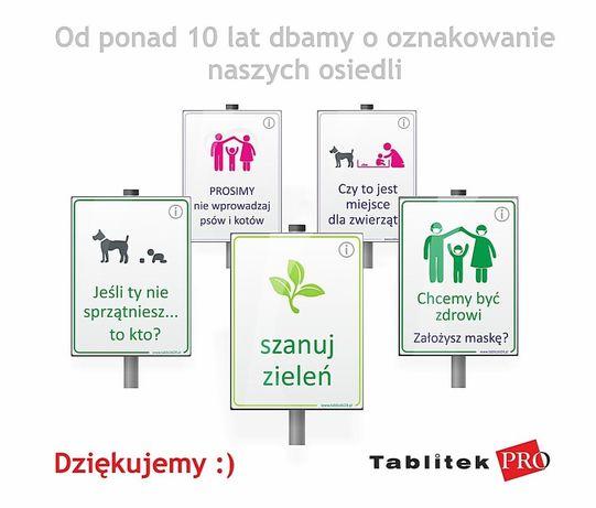 Tablice na plac zabaw - zakaz wprowadzania psów