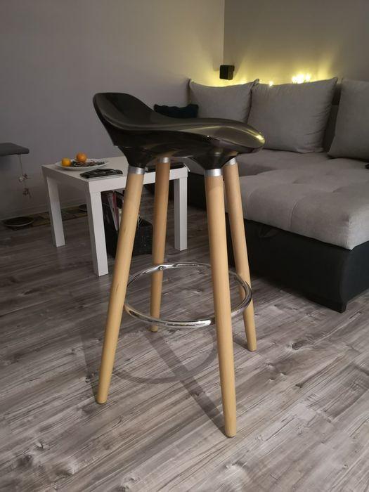Hoker stołek kuchenny krzesło barowe czarne Szczecin - image 1