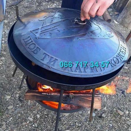 Виробник. Сковорода 50 + Подставка Садж з Диска борона мангал жаровня