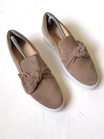 Слипоны paul green, кожаные туфли как massimo dutti 40-41 рр