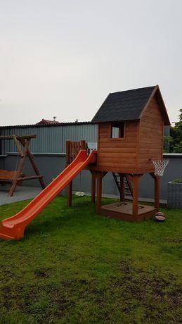Domek drewniany plac zabaw dla dzieci solidny