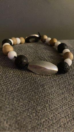 Bransoletka męska z naturlanuch elementów- amulet szczęścia