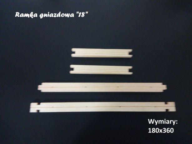 Ramka do ula/uli ramki pszczele 18 cm Wielkopolska/Hoffmanowska.