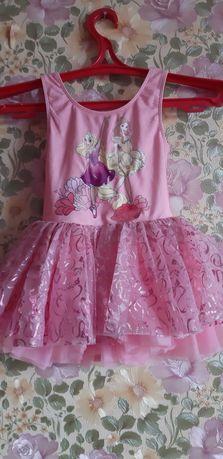 Купальник платье с пышной юбкой 5-6л