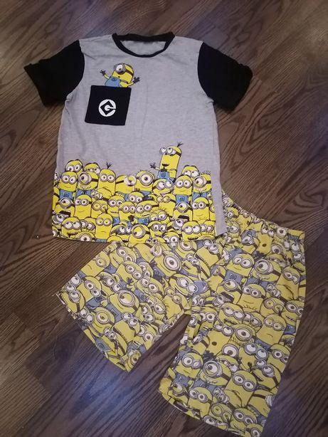 Комплект костюм пижама миньоны